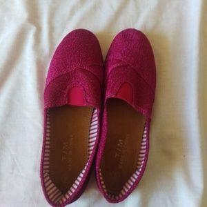 Other - Pink glitter girls flat canvas light weight shoes